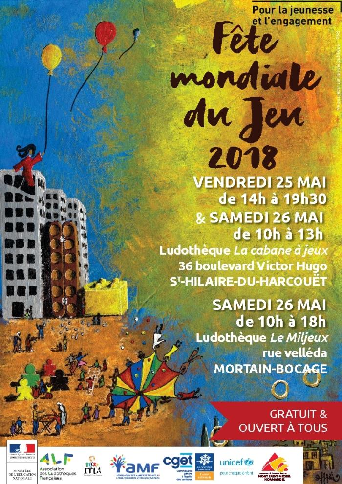2018 fête du jeu Mortain et saint Hilaire