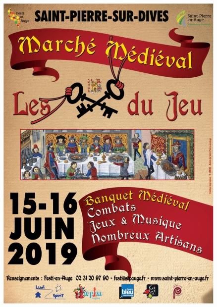 affiche marché et banquet médiéval_Mise en page 1